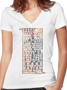 Vine & Fig Tree Women's Fitted V-Neck T-Shirt