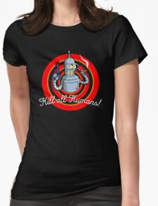 Looney Bot Womens Fitted T-Shirt