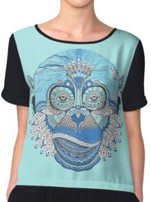 Colorful Monkey Chiffon Top