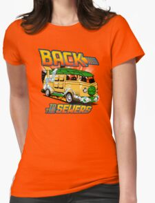 Back to the Sewers Womens Fitted T-Shirt
