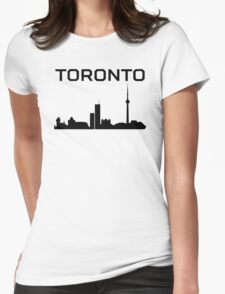 Toronto Cityscape Womens Fitted T-Shirt
