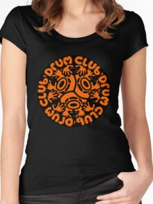 drum club t shirt Women's Fitted Scoop T-Shirt