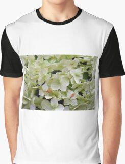 Natural background with small green leaves and flowers. Graphic T-Shirt