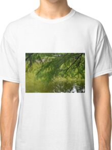 Tree with the leaves in the water. Classic T-Shirt