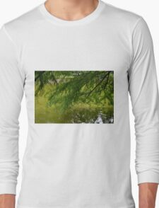 Tree with the leaves in the water. Long Sleeve T-Shirt