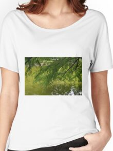 Tree with the leaves in the water. Women's Relaxed Fit T-Shirt
