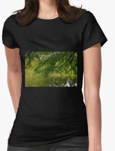 Tree with the leaves in the water. Womens Fitted T-Shirt