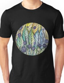 Dandelions.Hand draw  ink and pen, Watercolor, on textured paper Unisex T-Shirt