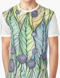 Dandelions.Hand draw  ink and pen, Watercolor, on textured paper Graphic T-Shirt