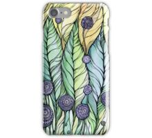 Dandelions.Hand draw  ink and pen, Watercolor, on textured paper iPhone Case/Skin