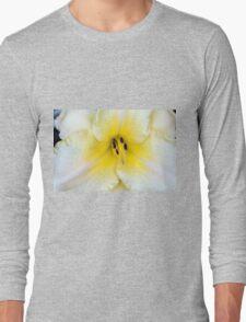Macro on delicate white flower. Long Sleeve T-Shirt