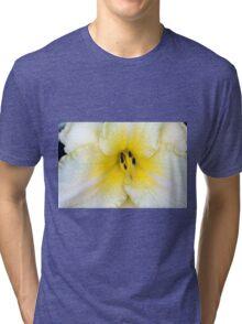 Macro on delicate white flower. Tri-blend T-Shirt