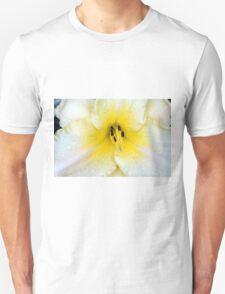 Macro on delicate white flower. Unisex T-Shirt