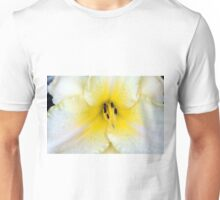 Macro on delicate white flower. Unisex T-Shirt