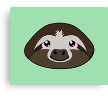 Smiling Sloth Canvas Print