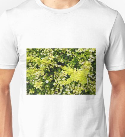 Green leaves pattern. Unisex T-Shirt