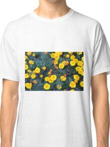 Beautiful yellow flowers texture. Classic T-Shirt