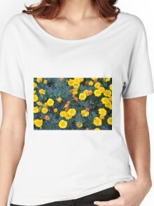 Beautiful yellow flowers texture. Women's Relaxed Fit T-Shirt