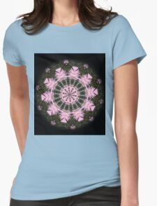 Pink Protea Wheels Womens Fitted T-Shirt