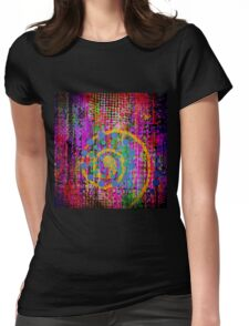 Trippy Abstract Womens Fitted T-Shirt