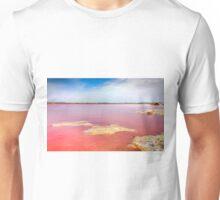 Pink salt lake at Torrevieja Unisex T-Shirt