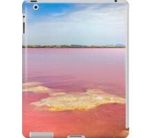 Pink salt lake at Torrevieja iPad Case/Skin