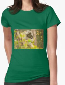 Koala by itself in a tree Womens Fitted T-Shirt