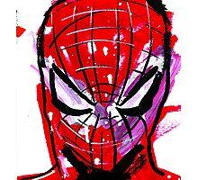 Spiderman splash Photographic Print