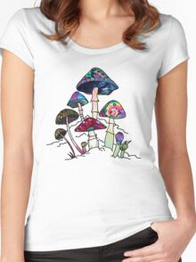 Garden of Shroomz Women's Fitted Scoop T-Shirt