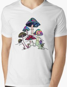 Garden of Shroomz Mens V-Neck T-Shirt