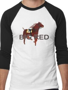Big Red the World's Greatest Racehorse Men's Baseball ¾ T-Shirt