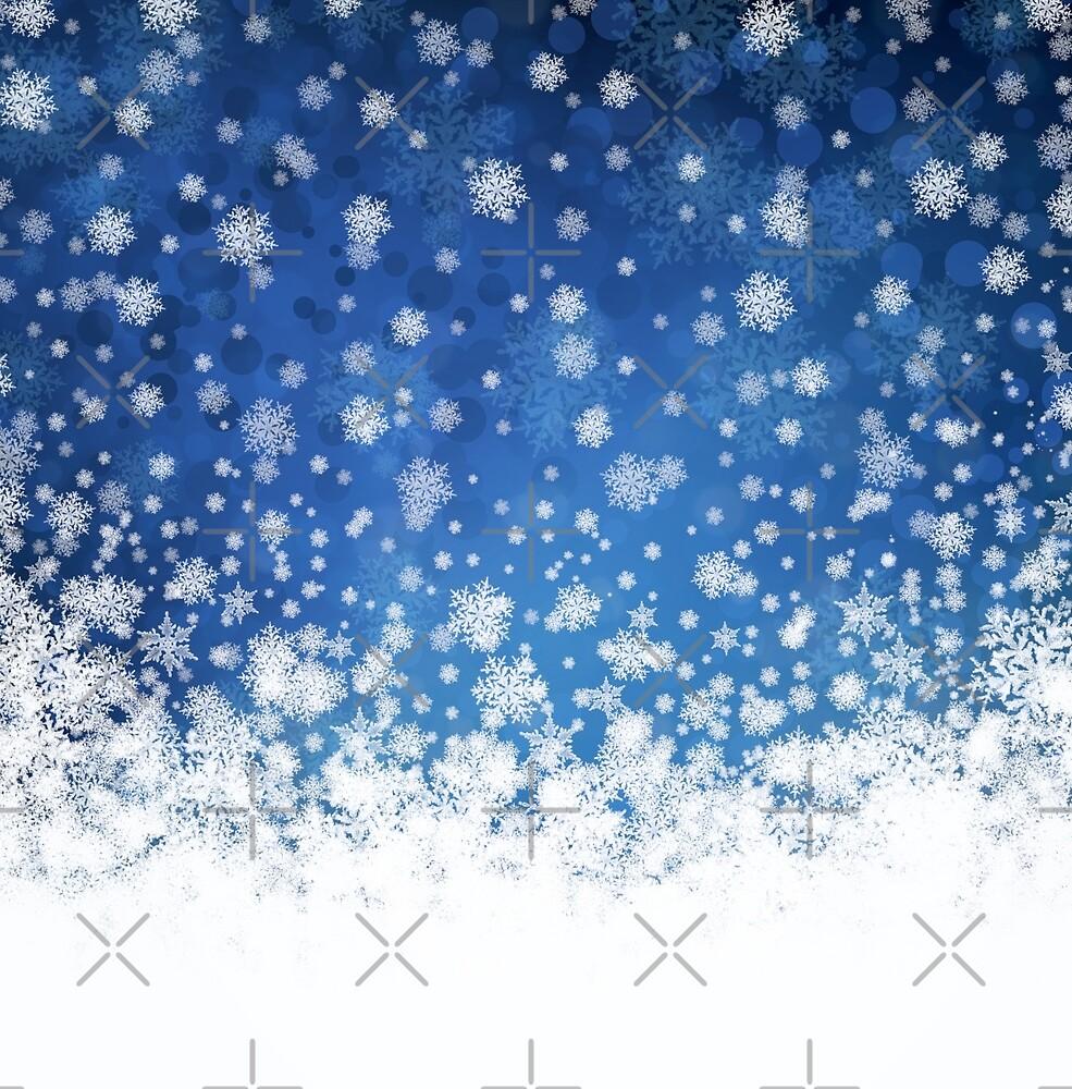 Winter background by Olga Altunina