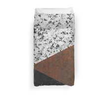 Granite, marble, rusted iron abstract Duvet Cover