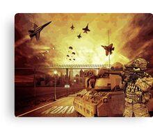 War Apocalypse Illustration Canvas Print
