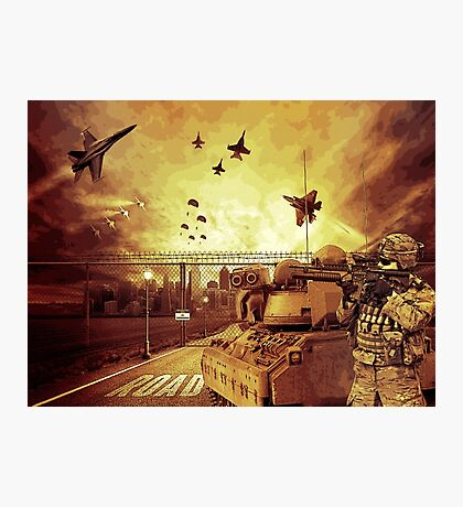 War Apocalypse Illustration Photographic Print
