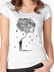 Raining man Women's Fitted Scoop T-Shirt
