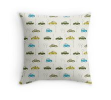 traffic - blue Throw Pillow