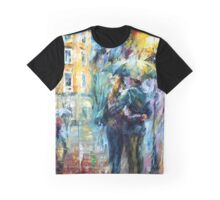 Leonid Afremov Rain Graphic T-Shirt