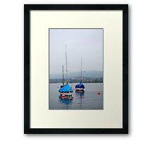Misty Day on Lake Zurich Framed Print