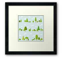 Trees Decor Nature Love Framed Print