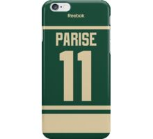 Minnesota Wild Zach Parise Alternate Jersey Back Phone Case iPhone Case/Skin