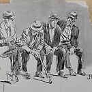 old gang (study) by Loui  Jover