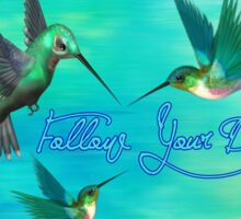 Follow Your Dreams (Hummingbirds) Sticker