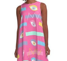 Pink Teichopsia A-Line Dress