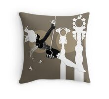 The Girl on the Trapeze Throw Pillow