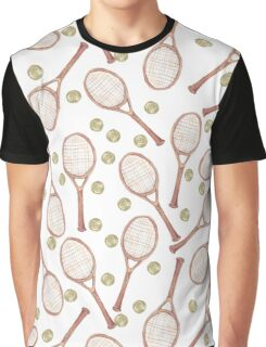 """pattern """"tennis racket with tennis ball"""" Graphic T-Shirt"""