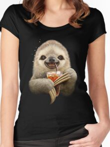 SLOTH & SOFT DRINK Women's Fitted Scoop T-Shirt