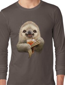 SLOTH & SOFT DRINK Long Sleeve T-Shirt