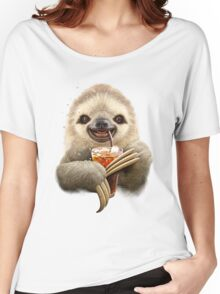 SLOTH & SOFT DRINK Women's Relaxed Fit T-Shirt