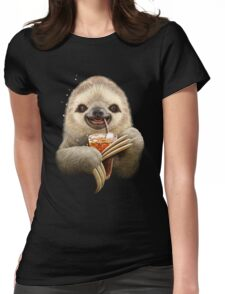 SLOTH & SOFT DRINK Womens Fitted T-Shirt